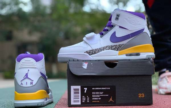 Where To Buy High Quality Air Jordan Legacy 312 'Lakers'  Basketball Sneakers