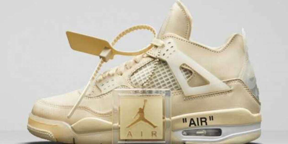 CV9388-100 Off-White x Air Jordan 4 Sail to release on July 25th