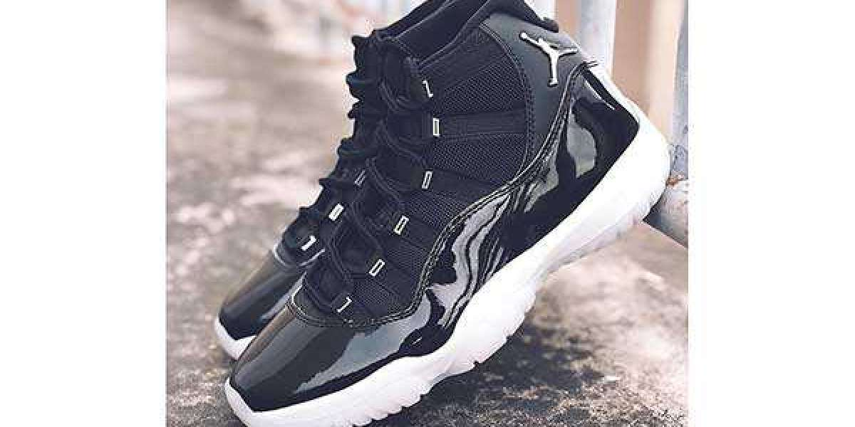 "Latest Release 2020 Air Jordan 11 ""25th Anniversary"" Black Clear CT8012-011"