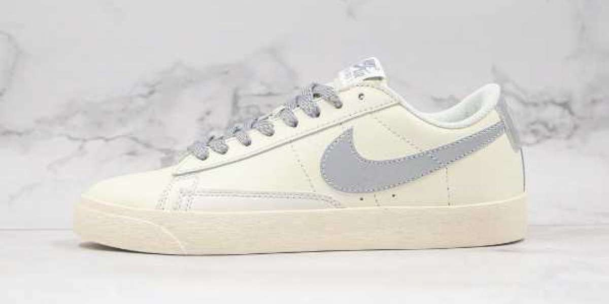 2020 Nike Blazer Low Beige Gray 3M Reflective for Sale