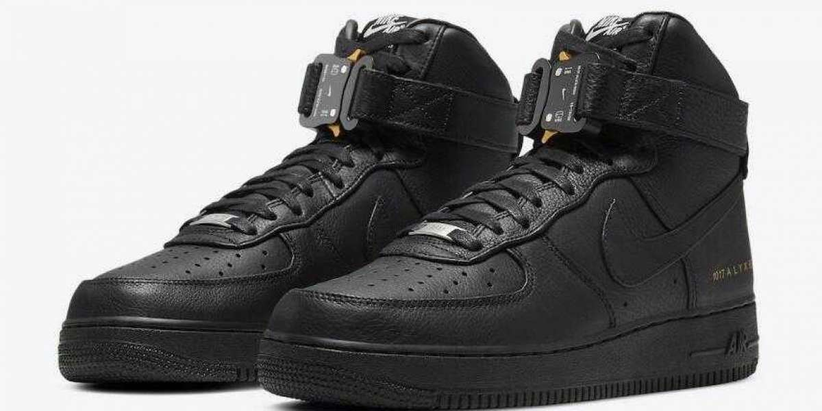 Alyx x Nike Air Force 1 High Black-Metallic Gold Coming Soon