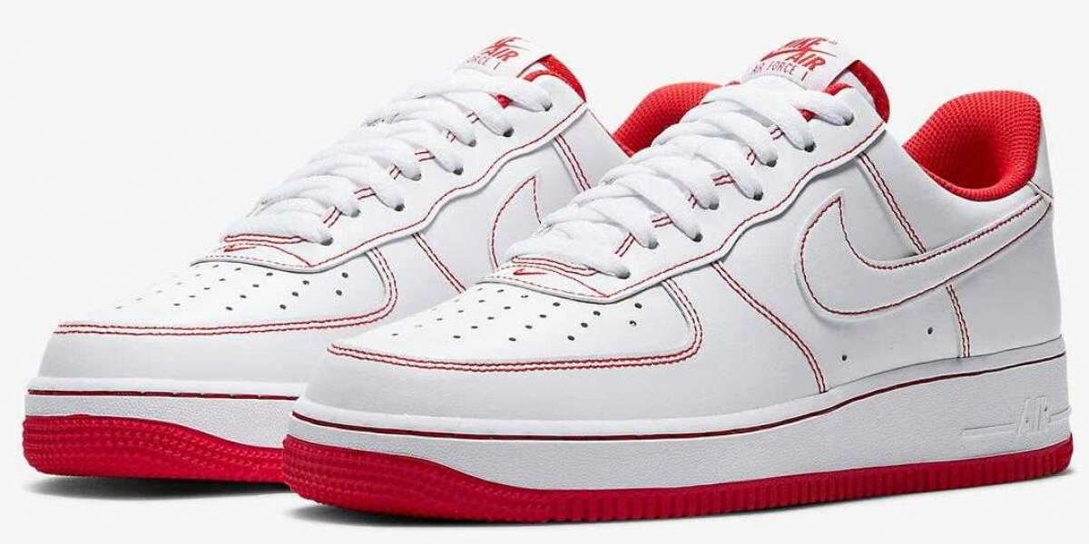 CV1724-100 Nike Air Force 1 Low White University Red for Sale