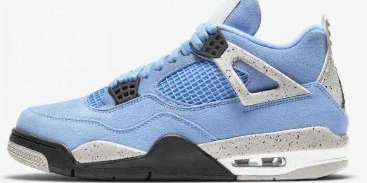 Buy Air Jordan 4 University Blue Tech Grey White Black CT8527-400 for Cheap