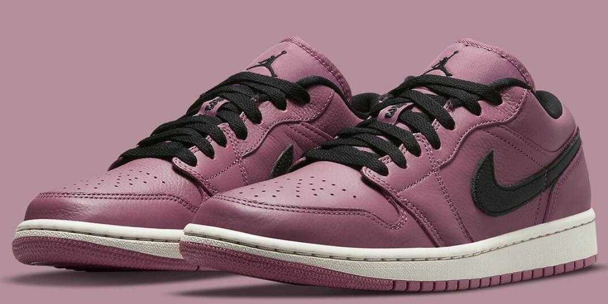 Air Jordan 1 Low Got Blacked Out Accents To A Magenta Base